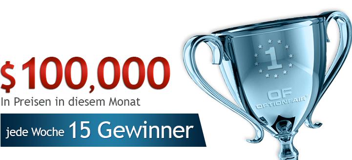 Herbstaktion Optionfair: jeden Monat einen 100.000 $ Wettbewerb + 5 Trades ohne Risiko!